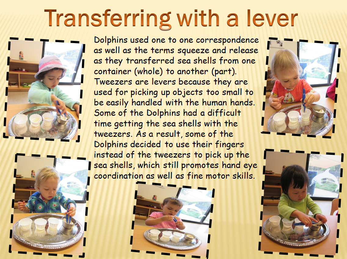 Transferring with a lever