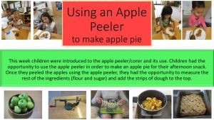 Introduction to an apple peeler/corer