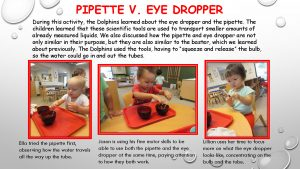 Pipette vs. Eye Dropper