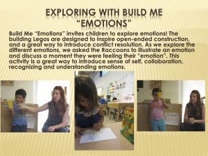 Exploring with Build Me Emotions