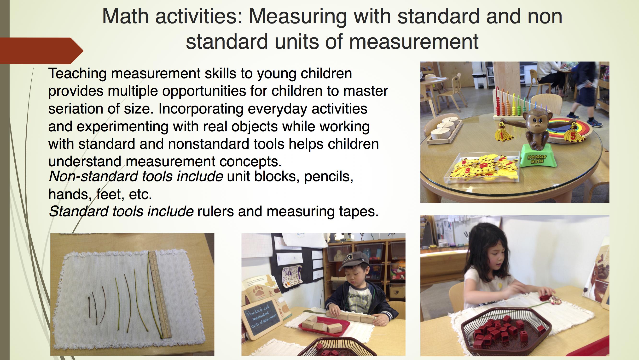 Math Activities: Measurements