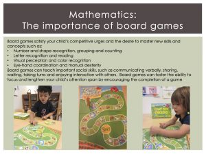 Mathematics - The Importance of Board Games
