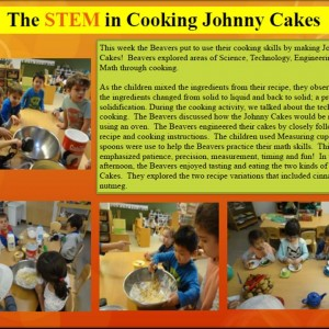 The STEM in cooking Johnny Cakes