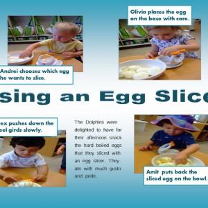 Using an Egg Slicer