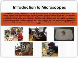 microscope panel
